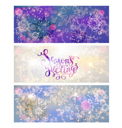 holiday winter greetings vector image