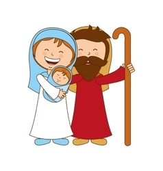 holy family character manger icon vector image