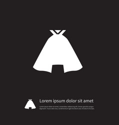 isolated garb icon clothing element can be vector image
