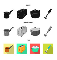 Isolated object kitchen and cook icon set of vector