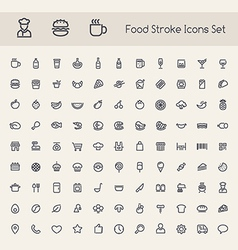 Line food icons b vector