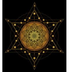 Lotus and sacred geometry ayurveda symbol of vector