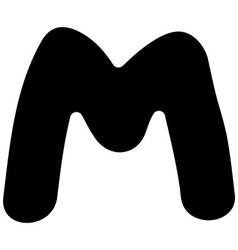 M capital silhouette vector