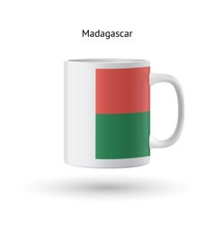 Madagascar flag souvenir mug on white background vector