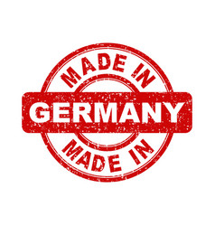 made in germany red stamp on white background vector image
