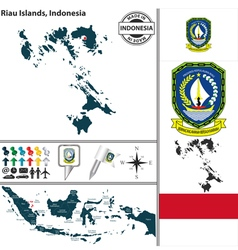 Map of Riau Islands vector image