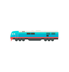 modern blue railway locomotive vector image