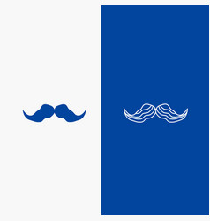 Moustache hipster movember male men line and vector