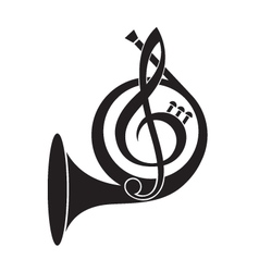 Music horn icon vector
