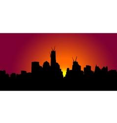 New York sunset vector image