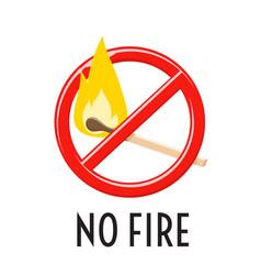 No fire sign forbidden open fire symbol vector