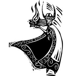 Norse God Loki vector image