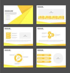 Orange yellow presentation templates Infographic vector image