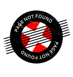 Page not found rubber stamp vector