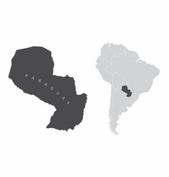 paraguay south america vector image