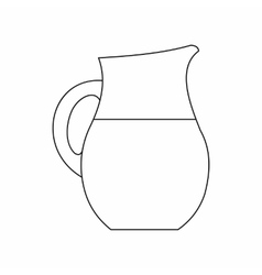 Pitcher of milk icon outline style vector image
