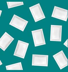 realistic detailed 3d white disposable foil sachet vector image