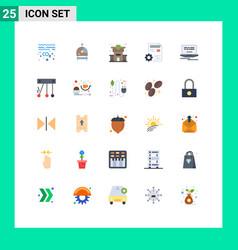Set 25 commercial flat colors pack for design vector
