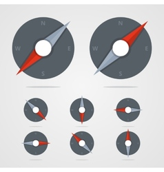 Set Of Compass Icons With Different Direction In vector image
