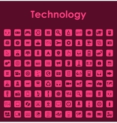 Set of technology simple icons vector image