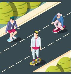Skateboarding urban background vector