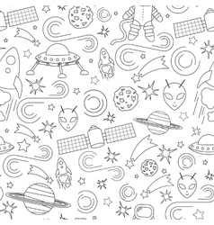 Space line icon pattern vector image