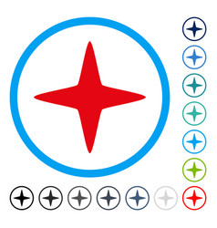 Sparkle star rounded icon vector
