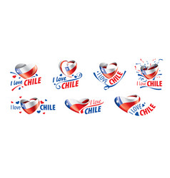 The national flag chile and inscription vector
