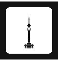 Tower in Seoul icon simple style vector image