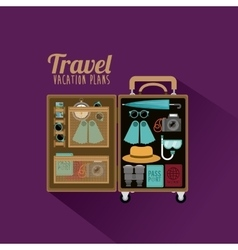 travel vacation plans vector image