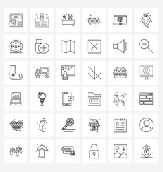Universal symbols 36 modern line icons of vector
