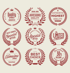 Vintage badges collection 2 vector