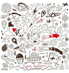 War - doodles vector