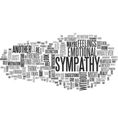 Where you can find sympathy text word cloud vector