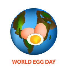 world egg day 12 october planet earth and eggs vector image