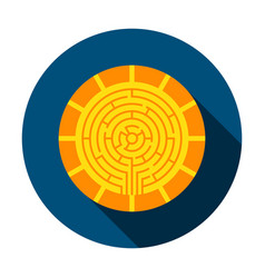 cryptocurrency coin circle icon vector image