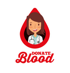 doctor in drop donate blood volunteer vector image