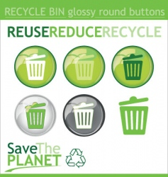 recycle bin buttons vector image vector image