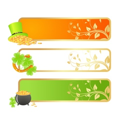 st patricks day banners vector image vector image