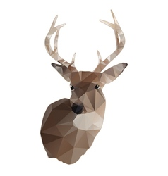 Abstract Whitetail Deer Buck vector image