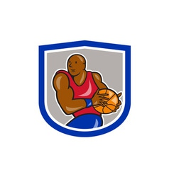 Basketball Player Holding Ball Cartoon vector image