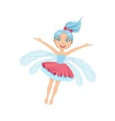 Cute Fairy With Blue Hair Girly Cartoon Character vector image