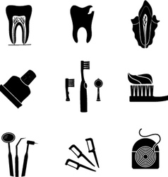 dentist icons vector image
