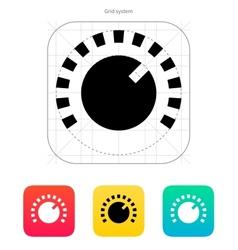 Music knob icon vector image
