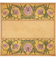 old paper floral frame vector image vector image