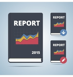 Report Icon Book vector image vector image