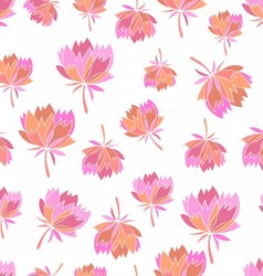 Seamless pattern with sweet flowers vector image