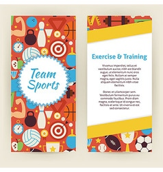 Flyer Template of Exercise and Training Sport vector image vector image