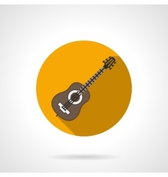 Music blog flat color round icon vector image vector image