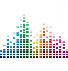 musical waves vector image vector image
